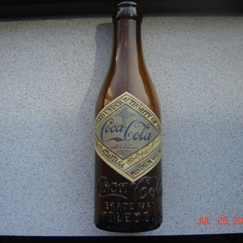 1913-1917 Coca Cola Label Bottle, Toledo