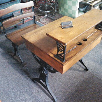 Two Student School Desk