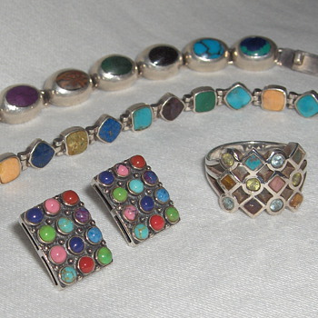 My Fave: Vintage Multi Stone Sterling Silver Jewelry - Sterling Silver