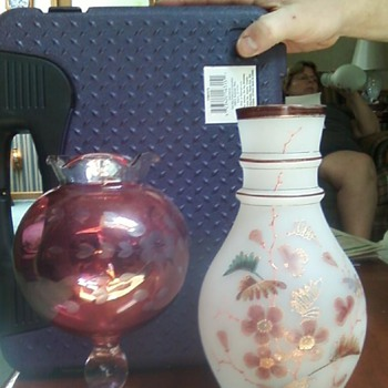Bohemian Glass Vases with PK markings - Art Glass