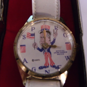 "1971 ""Offcial"" Spiro Agnew Wrist Watch - Wristwatches"
