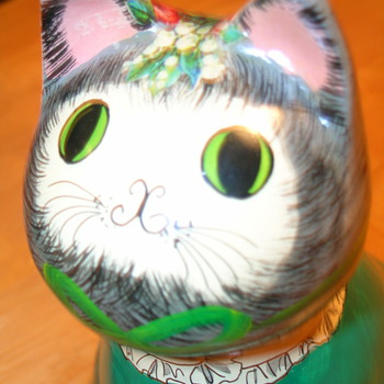 Vintage Cat Bank  **NEED Help Identifying** - Art Pottery