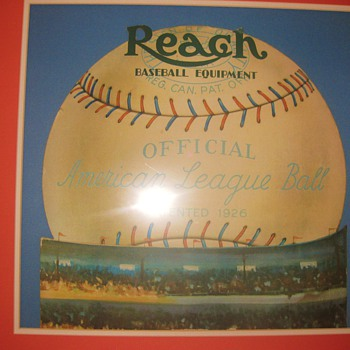 1926 Reach Official American League Ball Die-Cut advertising display - Baseball