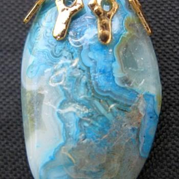 Blue Moss Agate Pendant