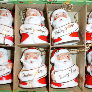 SANTA ORNAMENTS FROM JAPAN - Christmas