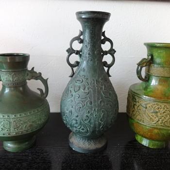 Bronze vases  - Asian