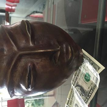 Mid-Century Bronze Head Vase/Vessel/Pitcher - Visual Art