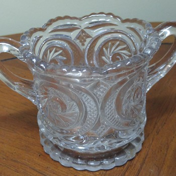 Glass sugar dish