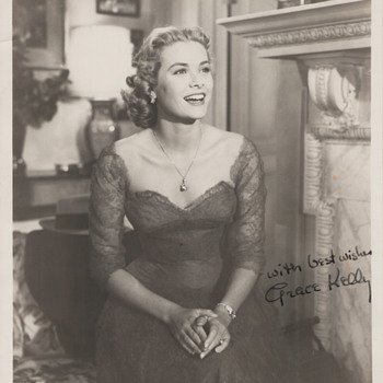 Grace Kelly Signed Promo Photo (1954)