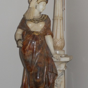 Alabaster and marble lamp