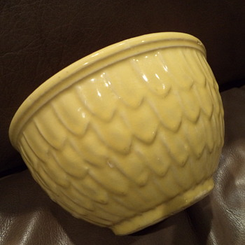 Vintage McCoy Scale Yellow Bowl
