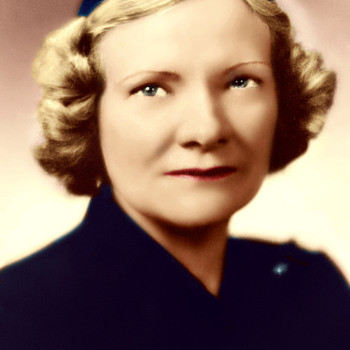 LUCILLE M. BELL, WIFE OF LARRY BELL, FOUNDER OF BELL AIRCRAFT COMPANY, 1935