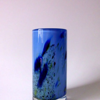 Randsfjord Glassverk Blue Vase by Benny Motzfeldt or Torbjrn Torgersen