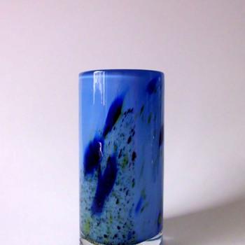 Randsfjord Glassverk Blue Vase by Benny Motzfeldt or Torbjørn Torgersen
