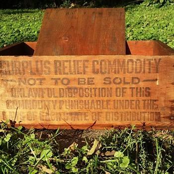 Surplus Relief Crate - Advertising