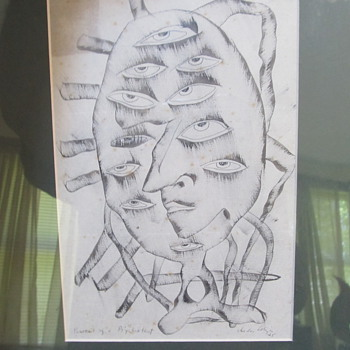 Picass0-like Abstract art / sketch - I am trying to identify this artist