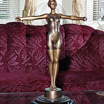 Diver, Bronze circa 1925 - Art Deco