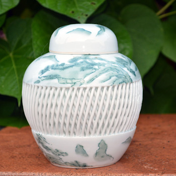 Imari Hand Painted Ginger Jar - Art Pottery