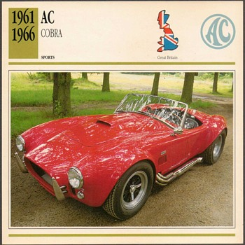 Vintage Car Card - AC Cobra