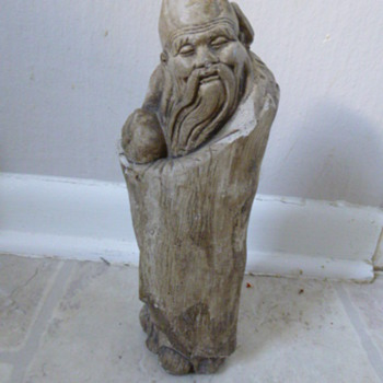 OLD Chinese rock carved man - Asian