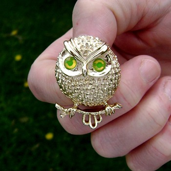 Sarah Coventry Owl Brooch - Hooter