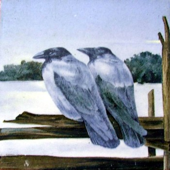"My old english or american ""crow"" tiles. - Art Pottery"