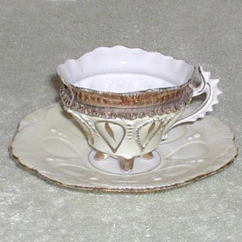 Fancy demitasse cup & saucer - China and Dinnerware
