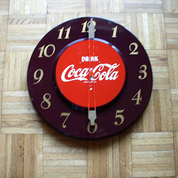 1950&#039;s coca cola clock - Clocks