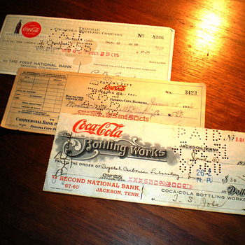 Coca-Cola Checks Throughout The Years