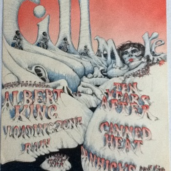 BG126 Poster -1968 Bill Graham Presents Canned Heat, Ten Years After, Albert King  - Posters and Prints