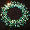 Dazzling Emerald Green and Aqua Blue Sherman Bracelet