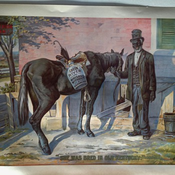 Black Americana Green River Whiskey Poster dated 1899 by The CHAS. W. Shunk Co.