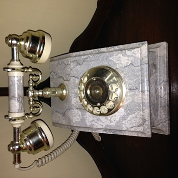 Antique marble telephone, but I have no idea what it's worth.