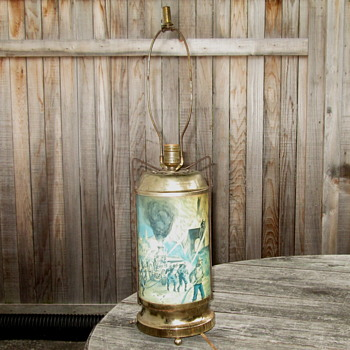 """Unusual Motion Lamp with """"Table Lamp"""" Top Fixture"""