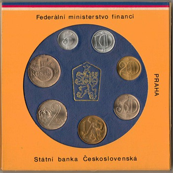 1987 - Czechoslovakia Mint Coin Set - World Coins