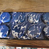 Blue & White Graniteware Muffin Pan