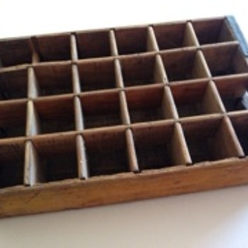 Coca Cola timber tray/carrier