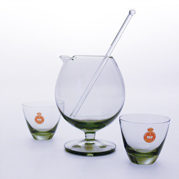 TIVOLI mixer  (1958) and COPENHAGEN glasses (1953), Per Lütken (Holmegaard)