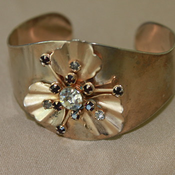 Interesting Cuff Bracelet - Costume Jewelry
