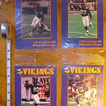 Minnesota Vikings  Target / Energizer Ltd. Ed. Carter Cards