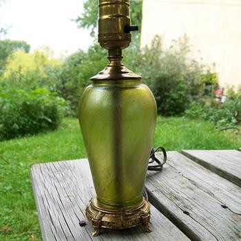 Art Glass Lamp Loetz ? Kralik ? - Art Glass
