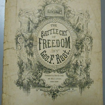 "1863 Civil War Anthem~""Battle Cry of Freedom"" Sheet Music - Paper"
