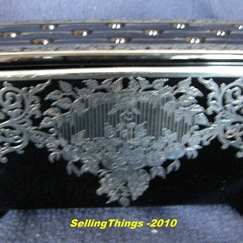 Fostoria # 2373 Window Box with silver deposit by Rockwell Silver