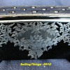 Fostoria # 2373 Window Box with silver deposit by Rockwell Silver