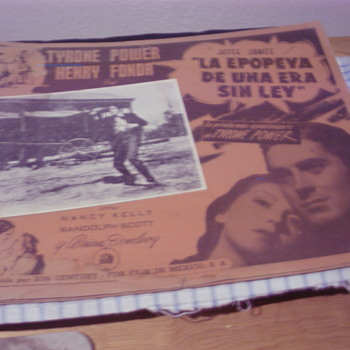 JESSE JAMES 1939 LOBBY CARDS TYRONE POWER HENRY FONDA