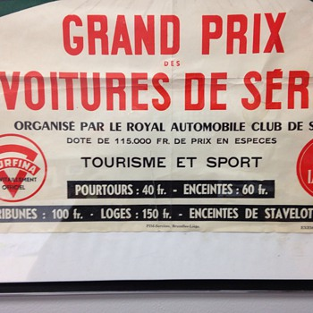 1952 Francorchamps SPA-BEVERCE-MALMEDY-STAVELOT Race Poster