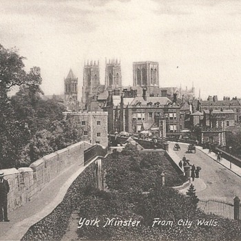 YORK MINSTER FROM CITY WALLS  1897 - Postcards