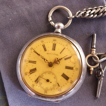 Solid Silver Swiss Pocket Watch