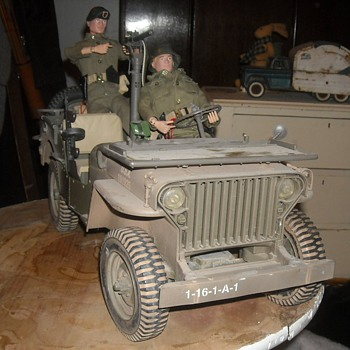 GI Joe Willys Jeep With .30 Cal Machine Gun