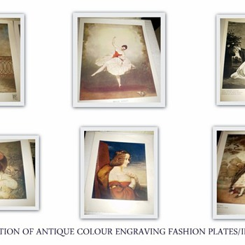 Fine Collection of Fashion Prints Colour illustrations